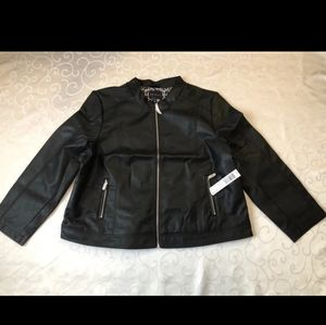 Nwt plus size faux leather moto jacket